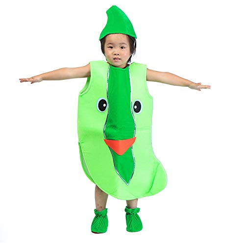 Children's Fruit Vegetables Costume Kids Green loofah Party Clothing Costumes for Halloween Cosplay Christmas Holiday Toddler Boys Girls ()