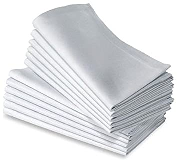 50 white premium restaurant wedding catering dinner cloth linen napkins 20x20