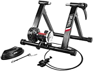 Teraysun Bike Trainer Stand, Indoor Bicycle Exercise Training Stand Folding Magnetic Bike Exercise Trainer Con