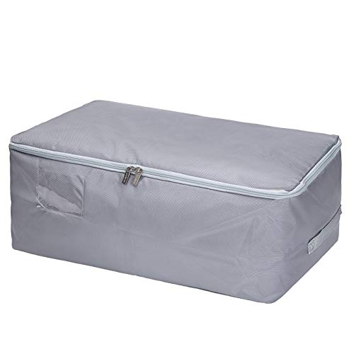 DOKEHOM XX-Large Under Bed Storage Bag (5 Colors), Thick Ultra Size Fabric Clothes Bag, Moisture Proof (Grey, XXL)