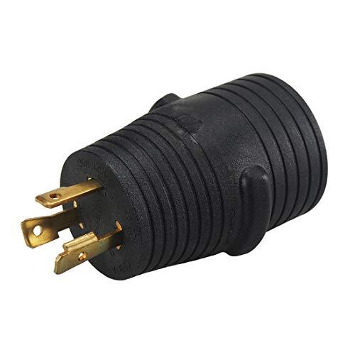 Plugrand Nema L5-30 30 AMP Plug to 14-50 50 AMP Receptacle Generator Adapter, Nema L5-30 to 14-50 30A to 50A 30A Male to 50A Female Generator - L5 Nema 30