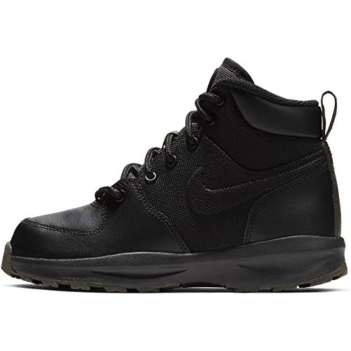 NIKE Boy's Manoa 17 (PS) Boot, Black/Black-Newsprint, 3Y