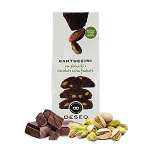 Deseo 10 Confezioni di cantuccini ai pistacchi e Cioccolato Extra Fondente, Biscotti Artigianali - 10 x 180g