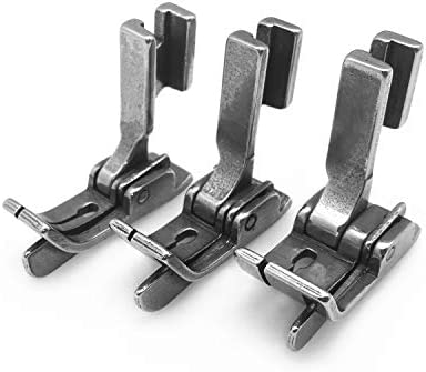 DDL-500 DDL-227 Singer 188K,191D,195K,196K DDL-552 YEQIN 3Pcs Industrial Sewing Machine Hinged Right Guide Feet SP-18 1//16+1//8+1//4 Fit for JUKI DDL-127 CONSEW 210,218,219