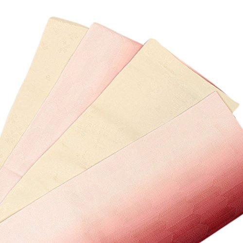 意識的シフト実施する《ネコポス対応》(キステ)Kisste 半巾帯 浴衣用 リバーシブル半巾帯 <アイボリー?臙脂/矢絣> 5-8-03000