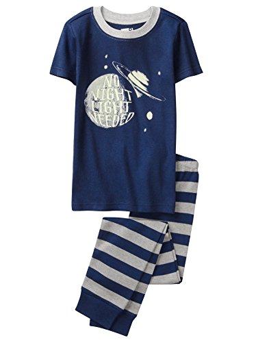 Crazy 8 Boys Short Sleeve Tight Fit Pajama Set