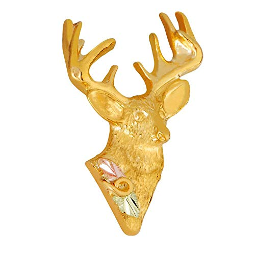 Landstroms 10k Black Hills Gold Deer Tie Tack or Lapel Pin - G ()