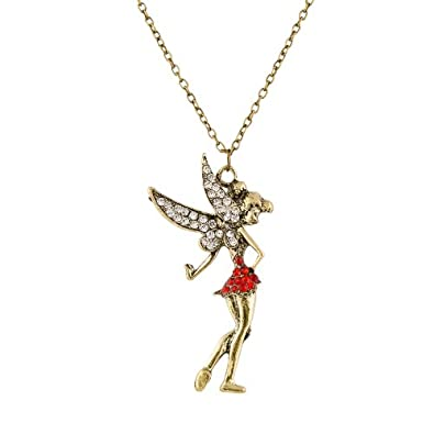 Buy habors red gold tinkerbell long chain necklace for women habors red gold tinkerbell long chain necklace for women aloadofball Images