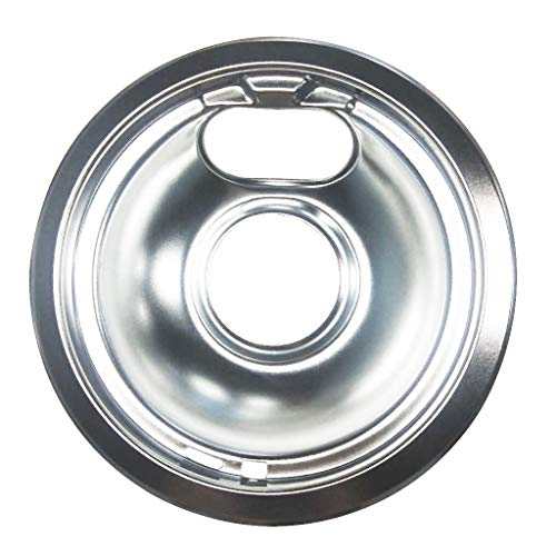 UMFun Drip Pan 6 in Fits Whirlpool, Tappan, Modern Maid and Magic Chef Silver -