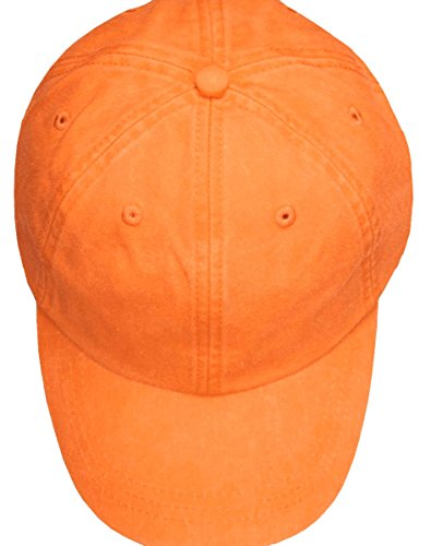 Adams Youth Optimum Pigment Dyed Twill Cap (Tangerine) (ALL) (Cap Solid Twill Dyed Pigment)