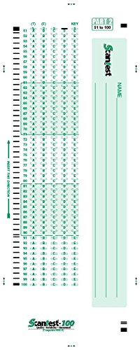 SCANTEST 100, 882-E Compatible Answer Sheet 500 Pack