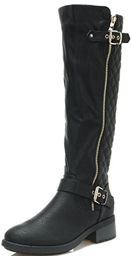 DREAM PAIRS Women's Knee High Riding Boots (Wide Calf Available)