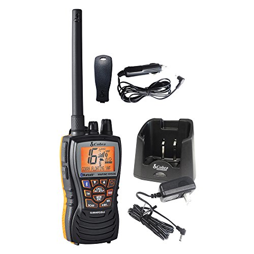 - Cobra MR HH500 FLT BT -Hand Held Marine Radio, 6 Watt, Floating, VHF Radio,Bluetooth Wireless Technology, Rewind-Say-Again