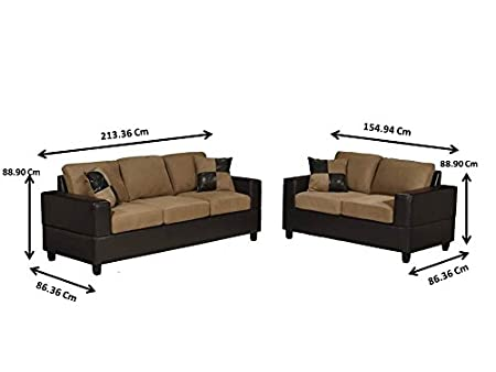 Amazon.com: Bobkona Seattle Microfiber Sofa And Loveseat 2 Piece Set In  Saddle Color: Kitchen U0026 Dining
