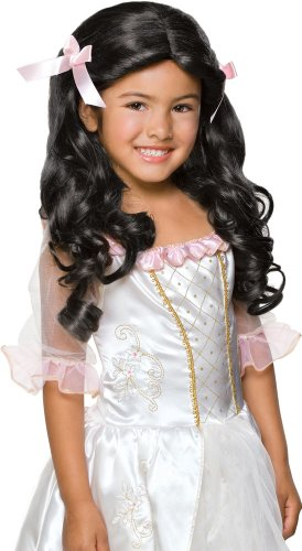 [Rubie's Gracious Princess Child's Costume Wig, Raven Black] (Hair For A Vampire Costume)