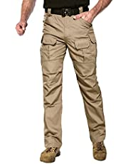 ANTARCTICA Mens Tactical Hiking Pants Durable Lightweight Waterproof Military Army Cargo Fishing Travel Without belt