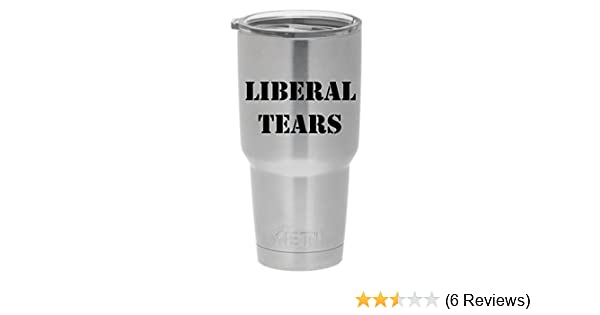 Amazoncom Liberal Tears Yeti Premium Decal 4 Black Yeti Decal