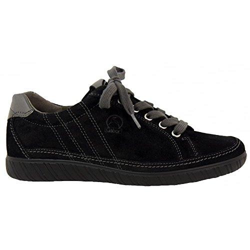 Gabor Shoes Comfort Basic, Zapatos de Cordones Derby para Mujer Blk Suede