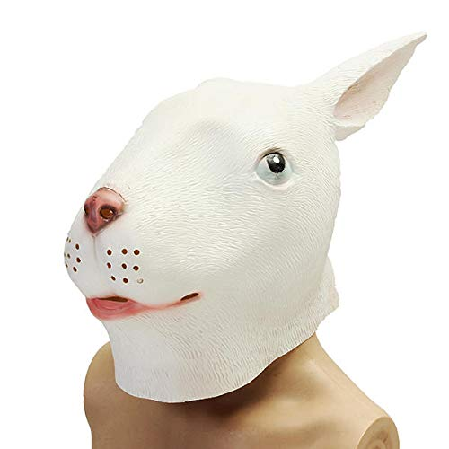 Motorcycle Motorcycle Face Mask - Mask Creepy Animal Costume Theater Prop Party Cosplay Latex - 2 - > 1 rabbit head face mask> > -