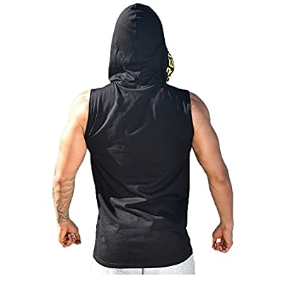 Gym Hoodie Men Bodybuilding Muscle Stringer Shirt Fitness Athletic Tank Top