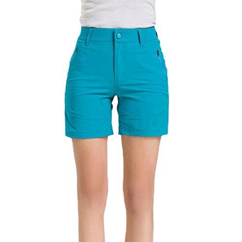 GITVIENAR Pantalones Cortos Deportivos de Yogas Modelos Femeninos al Aire Libre Secado Rápido Trajes Gimnasio Conjuntos Respirable y Pantalones Cortos Para Mujer azul