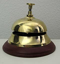 Solid Brass Front Desk Bell 3.75\