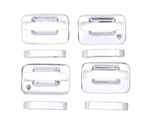 Auto Ventshade 685102 Chrome Door Handle Covers, 4-Door Set for 2004-2014 Ford F-150 with Passenger Keyhole, without - Moulding Passenger Door