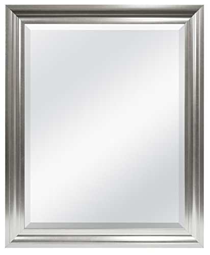 MCS Wall Mirror, 26.5 by 32.5-Inch, Brushed -