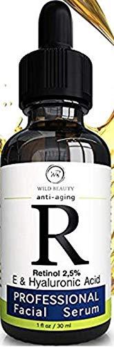 New 2019 Retinol Serum 2.5% - BEST Face Serum Reduce Wrinkles - Fine Lines - Age Spots Sun Damage with Hyaluronic Acid Vitamin E Vitamin A Aloe Vera - Anti Aging Serum - Anti Wrinkle Facial Serum (Best Hyaluronic Acid Serum 2019)