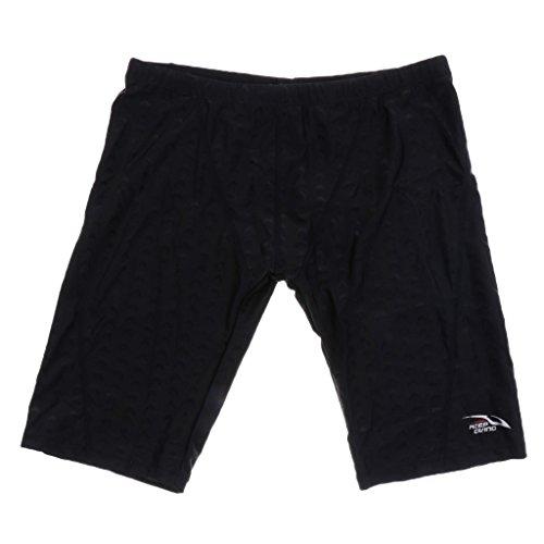Sharplace Pantalones Cortos de Nadadores de Hombres Calzoncillos del Boxeador Multiusos de Color Diferente - Negro, 5XL