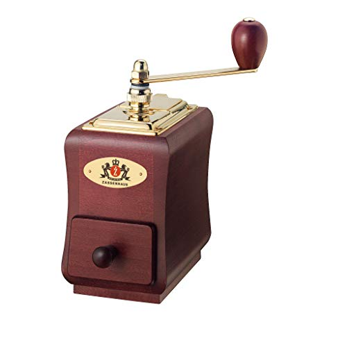 "Zassenhaus ""Santiago"" Mahogany Beech Wood Manual Coffee Mill"