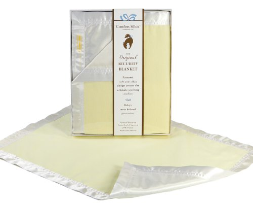 Yellow COMFORT SILKIE Security Blanket ~ The Original. The Best. Award Winning. (Baby Silky Security Blanket)