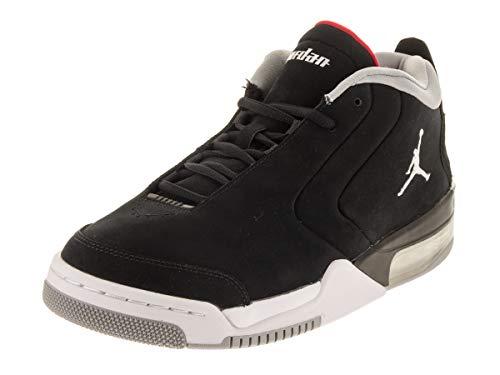Jordan Nike Men's Big Fund Black/Metallic Silver/White Basketball Shoe 8 Men US (Jordan Size Shoe 8)