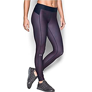 Under Armour Women's HeatGear Armour Printed Legging, Midnight Navy (411)/Metallic Silver, X-Small