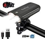 HUAYOO® Bike Front Lights USB Rechargeable LED Bike Light Set, Cree XML T6