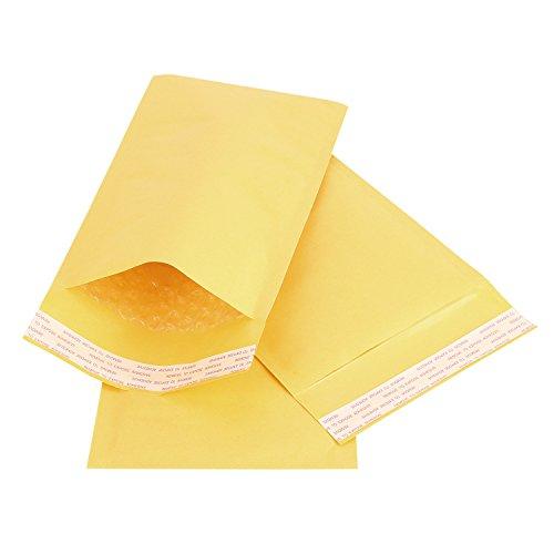 Adaman #6 Kraft Bubble Mailers Padded Envelopes, 12.5x19inch 25pc Ploy Self-Seal Bubble Envelopes