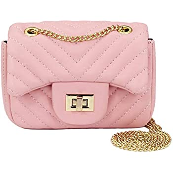 3d2f85ca9d52 Amazon.com  CMK Trendy Kids Quilted Embossed PU Leather Kids Purse ...