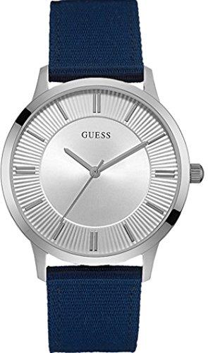 Guess W0795G4 - Reloj de Lujo para Hombre, Color Plateado/Azul: Amazon.es: Relojes