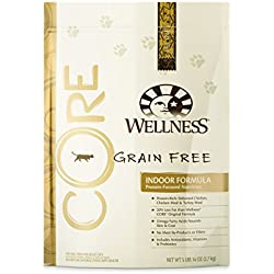 Wellness CORE Natural Grain Free Dry Indoor Cat Food, Chicken & Turkey, 5.9-Pound Bag