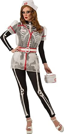 Rubie's Costume Skellie Nurse With Accessories, Black/White, Small Costume
