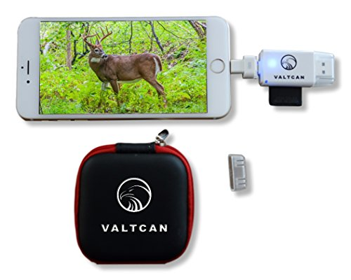 Valtcan SD Card Reader for Apple iOS Trail Camera Viewer for Apple iPhone & iPad, View Photos and Videos on Smartphone Instantly Cam Port