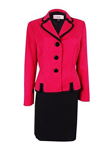 Le Suit Women's Cannes Three-Button Skirt Suit (2P, (Fully Lined Petite Suit)
