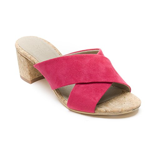 Microfiber and Pink Made Vegan Cork Sandals Breathable nae Heeled Anti of Ecological Women Anita Allergy with qZUx7nYf