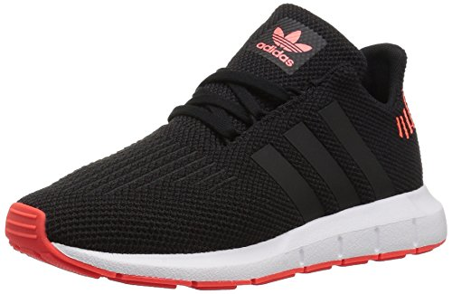 adidas Originals Unisex Swift Running Shoe Black/Solar red, 2.5 M US Little Kid