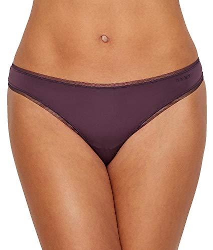 DKNY Women's Litewear Low Rise Thong, Aubergine Dark, Small (Thongs Rise Low Dkny)