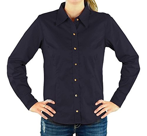 Devon & Jones Women's Long Sleeve Five-Star Performance Twill Button Down Dress Shirt - Ink D555W M - Devon And Jones Twill Shirt