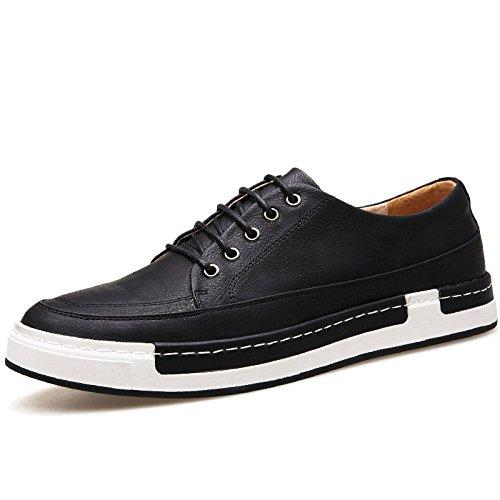 LQV Nouveau Hommes Chaussures Respirant Casual Hommes Chaussures en Dentelle Confortable Sneakers D'été Black gRYjFjiAmv