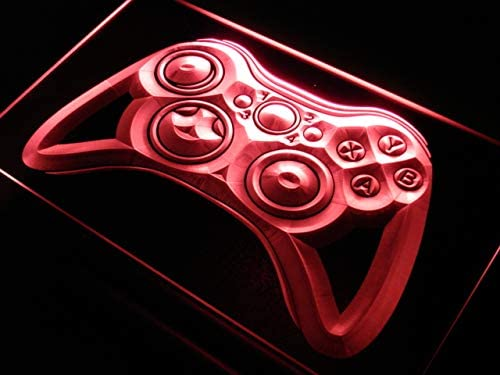 ADVPRO Game Controller Console Bar Pub LED Neon Sign White 24 x 16 Inches st4s64-i733-w