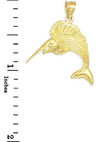 10 ct 471/1000 Or Pelerin Poisson- Pendentif
