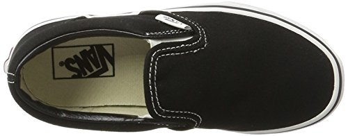 Vans CLASSIC SLIP-ON - zapatilla deportiva de lona infantil Black/True White